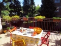 The terrace where to have breakfast in sunny days